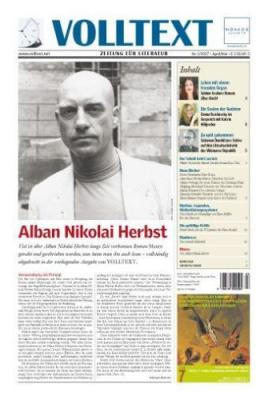 Alban Nikolai Herbst: Meere (bei VOLLTEXT)