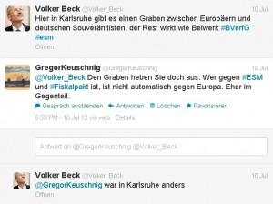 Tweet von Volker Beck