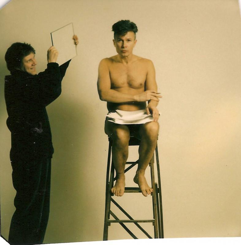 Peter Stephan Jungk und Eduard Limonov - 3. Januar 1989 - © Lillian Birnbaum