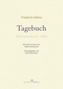 Friedrich Helms Tagebuch Wilhelmshorst 1945