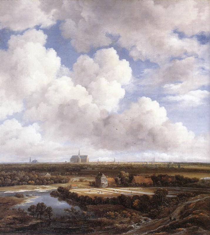 Jacob van Ruysdael: Ansicht von Haarlem mit Bleichfeldern - via Wikimedia Commons