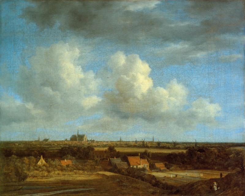 Jacob van Ruysdael: Haarlem von den Dünen im Nordwesten gesehen - via Wikimedia Commons