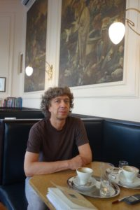 Thomas Stangl in Wien, Altottakring, Café Ritter © Leopold Federmair